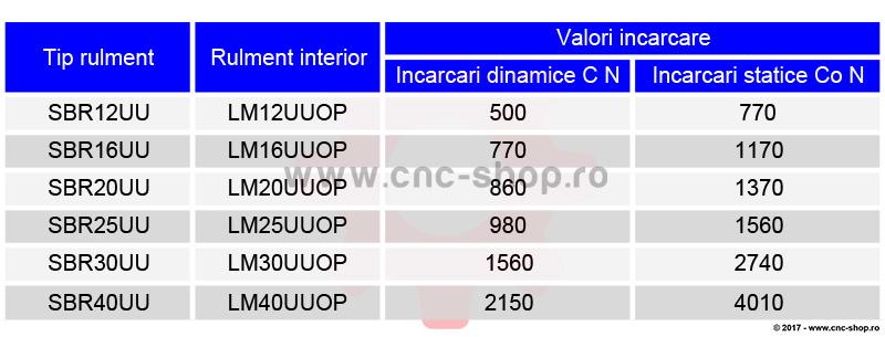 tabel valori incarcari statice si dinamica