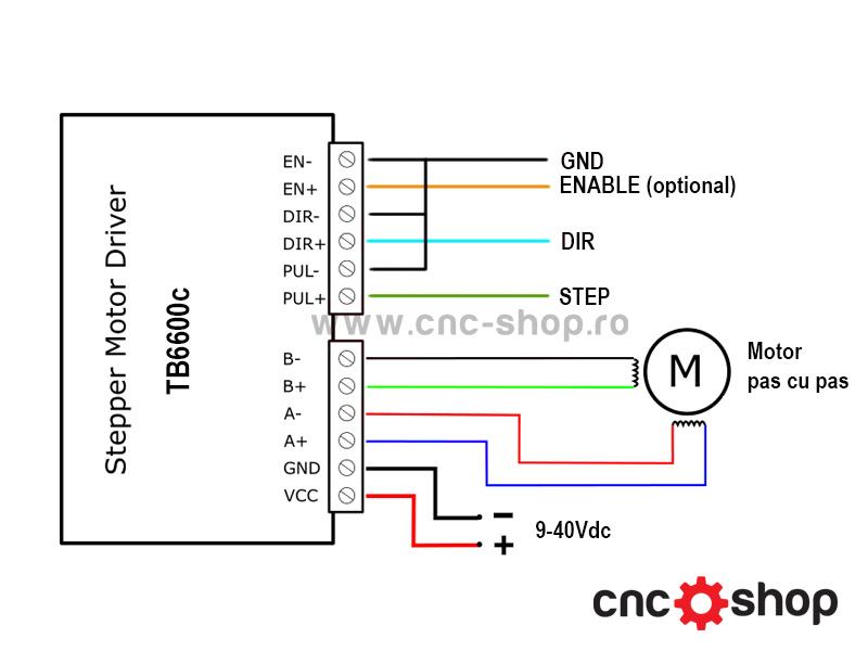 driver stepper tb6600  3 5a  2 faze  bipolar  radiator racire