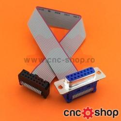 Cablu panglică cu conectori IDC16-DSUB15
