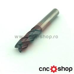 Freza CNC, 4F 8x8 carbura cu acoperire
